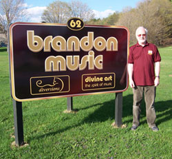 Stephen with Brandon Music Sign